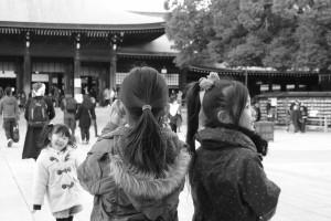 Girl at Meji Shrine, Tokyo