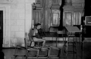 John sitting